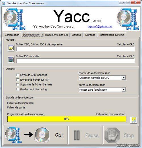 yacc psp