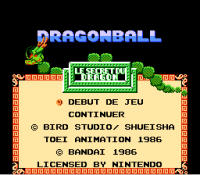 DragonBall Le secret du Dragon (nes)